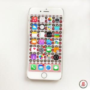 free iphone wallpaper- red blush taupe circular pattern wallpaper- newlune