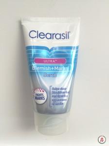 clearasil ultra blemish + marks scrub- newlune