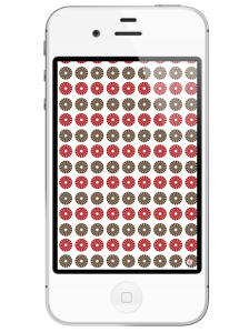 iphone 4-free iphone wallpaper- red blush taupe circular pattern wallpaper- newlune