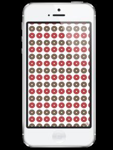 iphone 5-free iphone wallpaper- red blush taupe circular pattern wallpaper- newlune