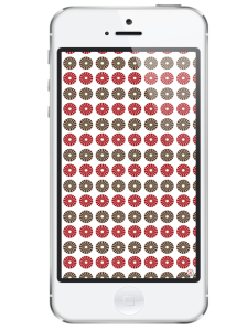 iphone 5-free iphone wallpaper- red blush taupe circular pattern wallpaper- newlune