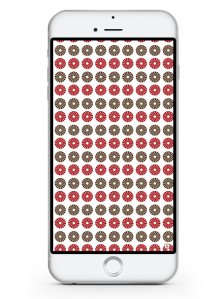 iphone 6- free iphone wallpaper- red blush taupe circular pattern wallpaper- newlune