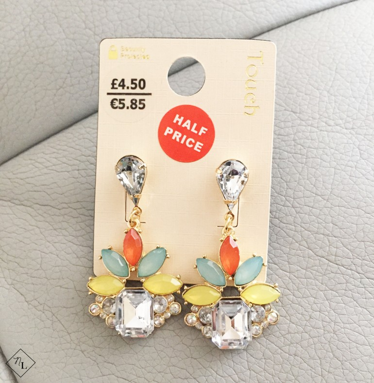 colourful earrings-debenhams-newlune-collective haul-touch