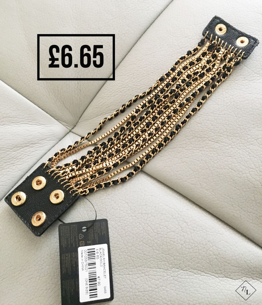forever 21-black gold bracelet-newlune-collective haul