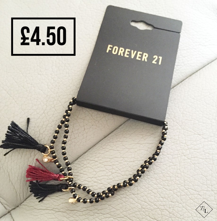 forever 21 bracelet, black burgundy-newlune-collective haul