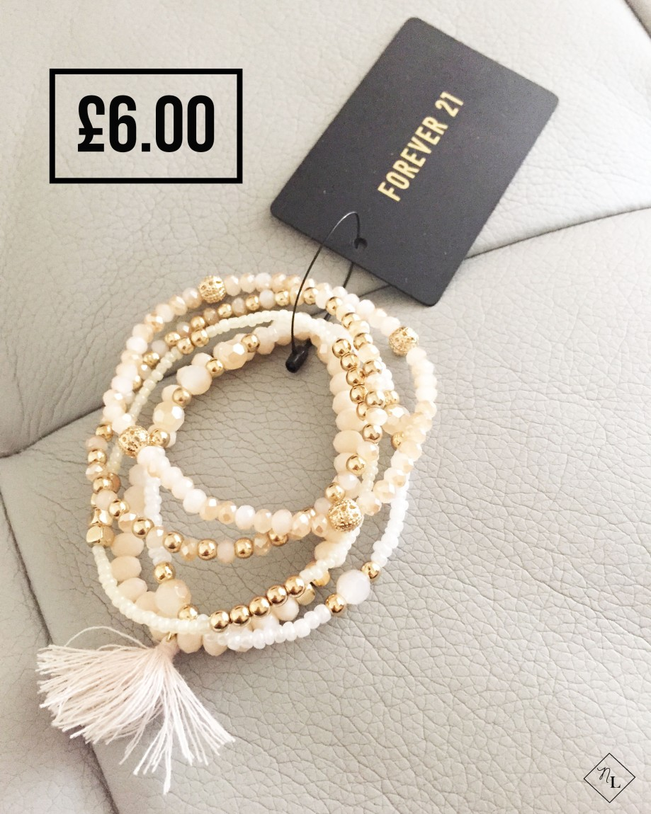 forever 21-cream bracelet-newlune-collective haul