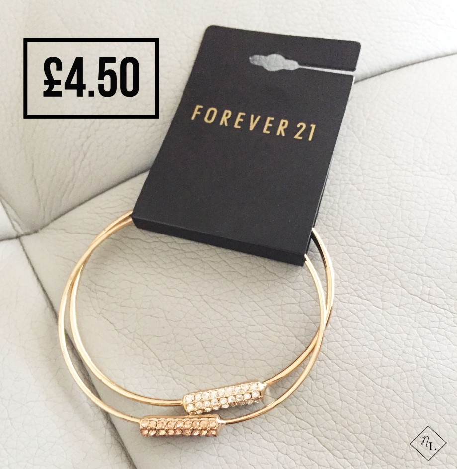 forever 21-gold bangle peach clear-newlune-collective haul