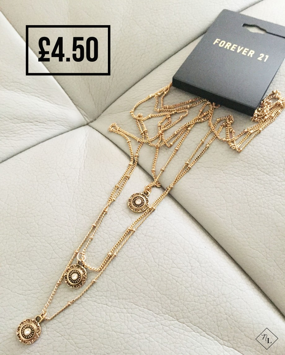 forever 21 necklace gold antic newlune collective haul