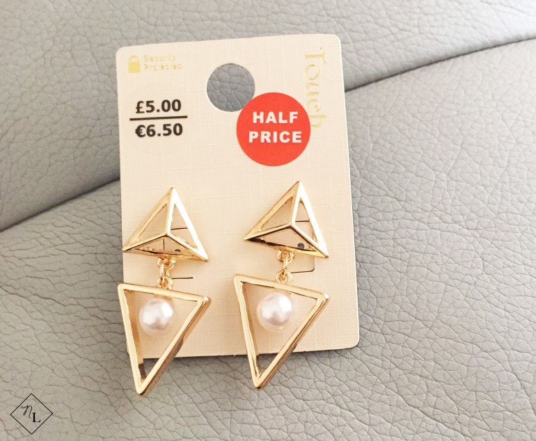 gold pearl earrings-newlune-debenhams-touch-collective haul