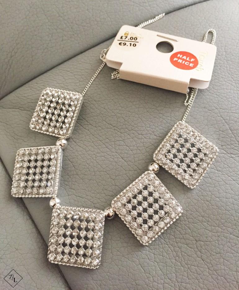 silver diamond necklace-newlune-debenhams-touch-collective haul
