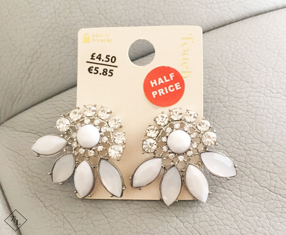 silver grey earrings-debenhams-touch-newlune-collective haul