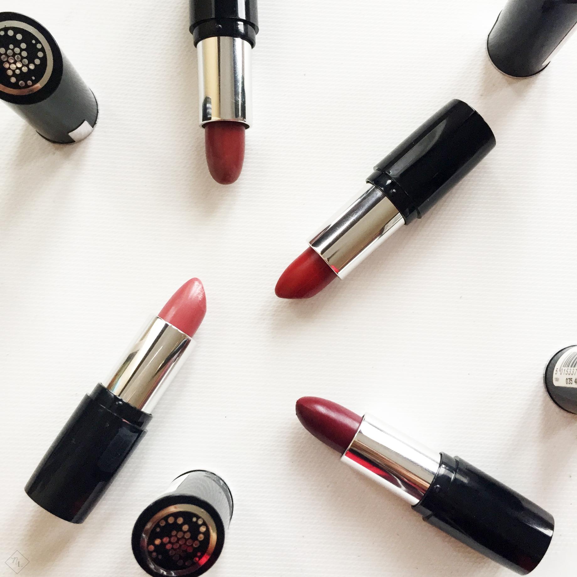 collective haul-debenhams-superdrug-makeup revolution-kiko milano-collection-lipsticks-newlune