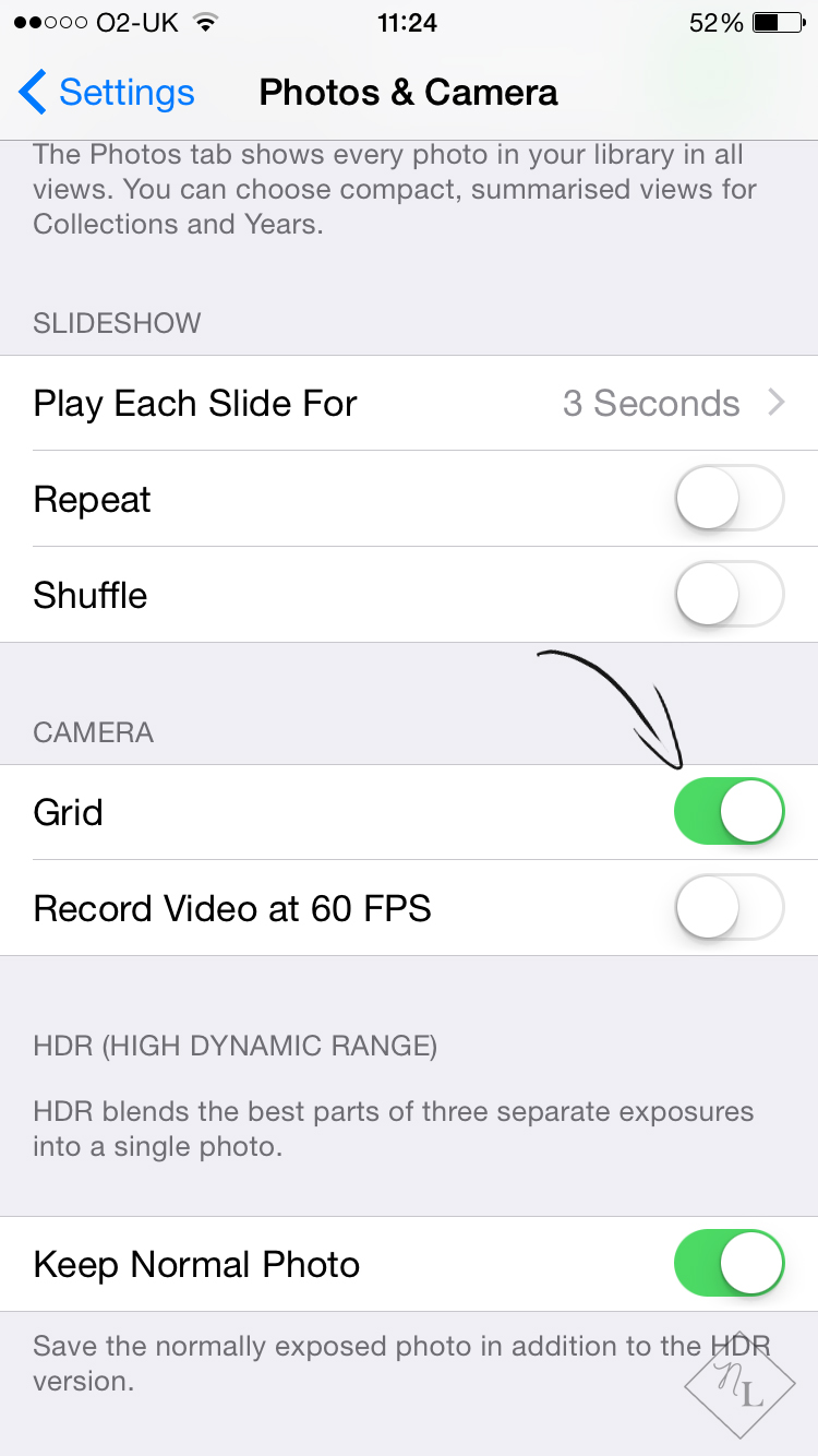 how to take good pictures with your iPhone-iphone grid settings-newlune