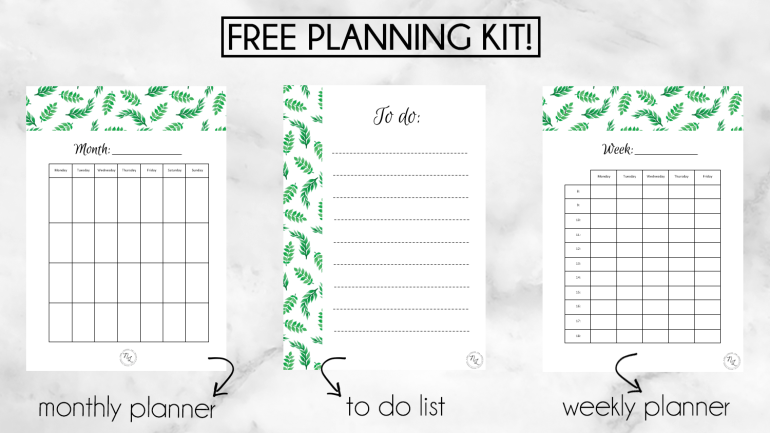 tips and tricks on staying organised-freebies-free planning kit-to do list-monthly planner-weekly planner-newlune