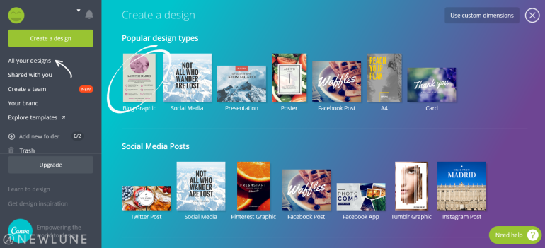 how to create custom images for your blog posts using canva-newlune-blog graphics