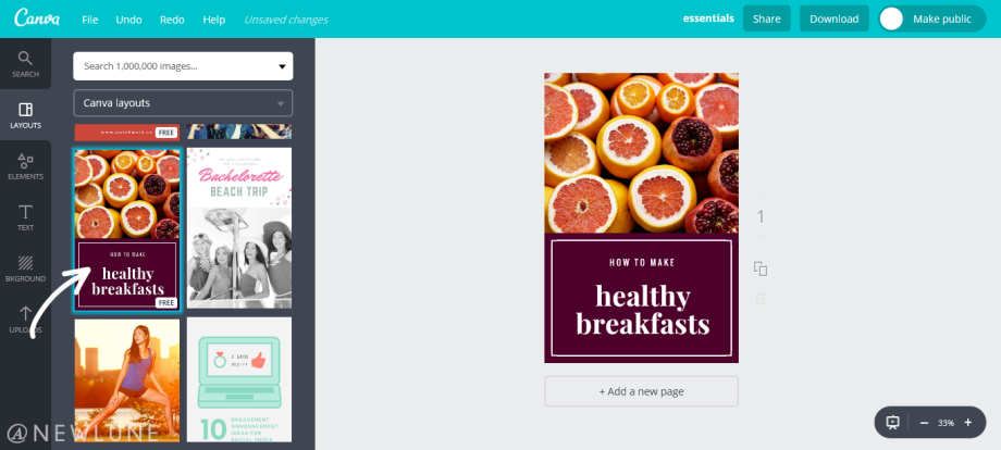 how to create custom images for your blog posts using canva-newlune-canva layouts
