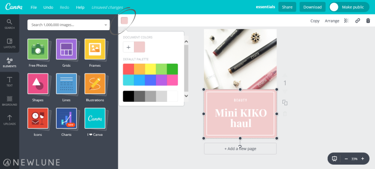 how to create custom images for your blog posts using canva-newlune-colour