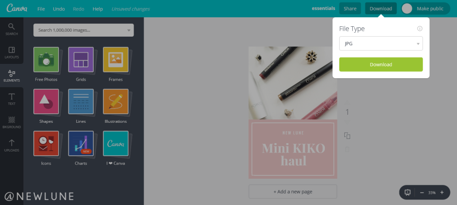how to create custom images for your blog posts using canva-newlune-download