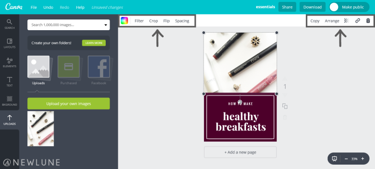 how to create custom images for your blog posts using canva-newlune-image edit uploads