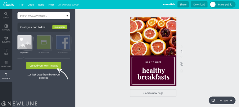 how to create custom images for your blog posts using canva-newlune-uploads