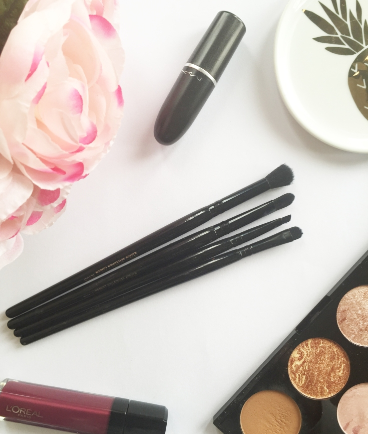 testing makeup revolution brushes - new lune