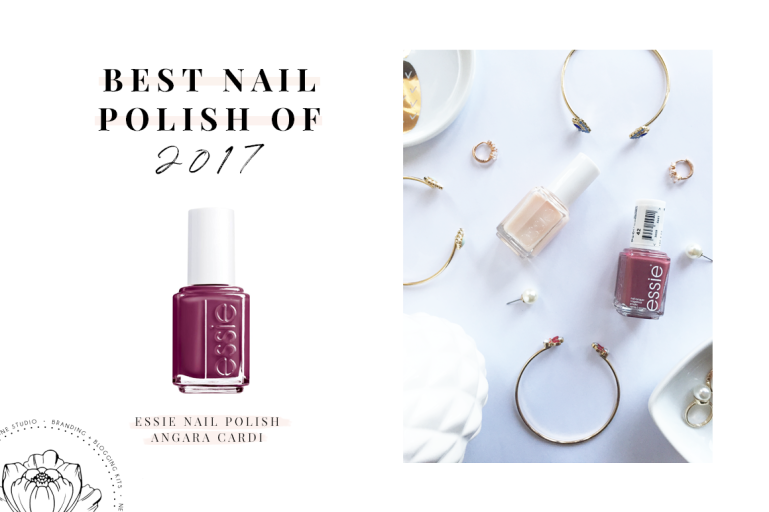 best of 2017 - nail polish - essie - angara cardi - new lune