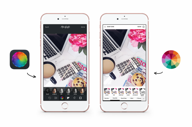 how to create an instagram theme + free instagram templates - filters - afterlight - colorstory - new lune