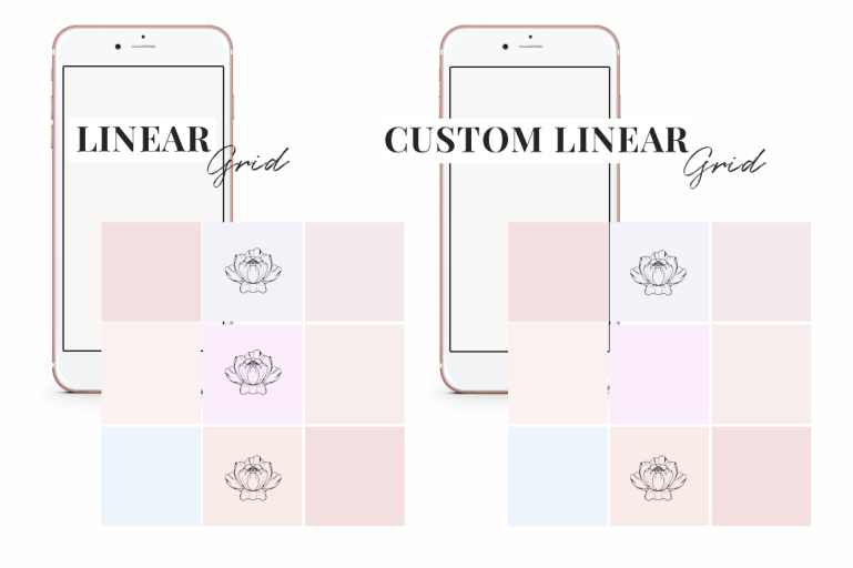 how to create an instagram template + free instagram templates - pattern style grid - new lune