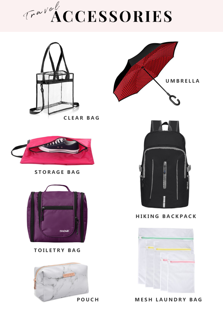 the ultimate packing list for every trip - new lune - travel accessories - bagail