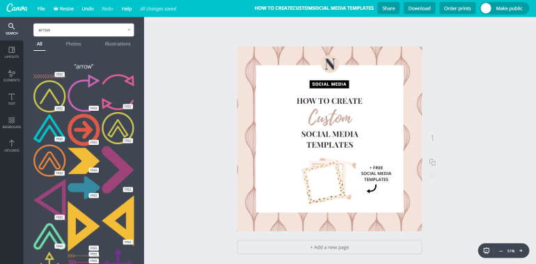 10 tuto-how to create custom social media templates - new lune - free social media templates