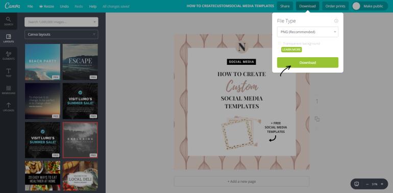 12 tutohow to create custom social media templates - new lune - free social media templates