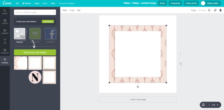 2 tuto-how to create custom social media templates - new lune - free social media templates