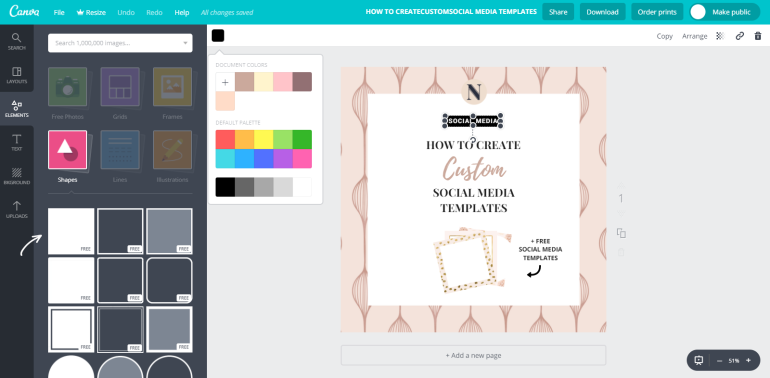 6 tuto-how to create custom social media templates - new lune - free social media templates