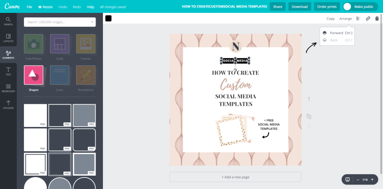 7 tuto-how to create custom social media templates - new lune - free social media templates