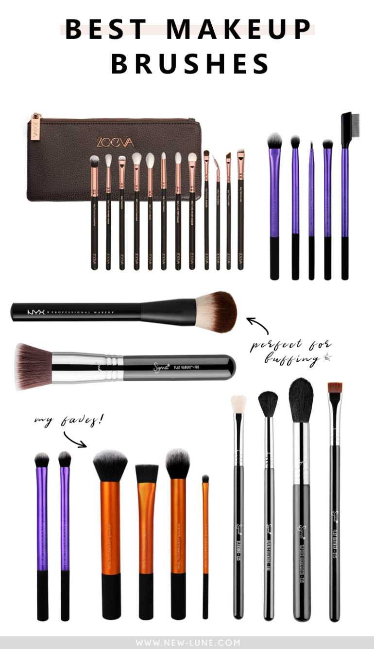 best makeup brushes - new lune - my collection