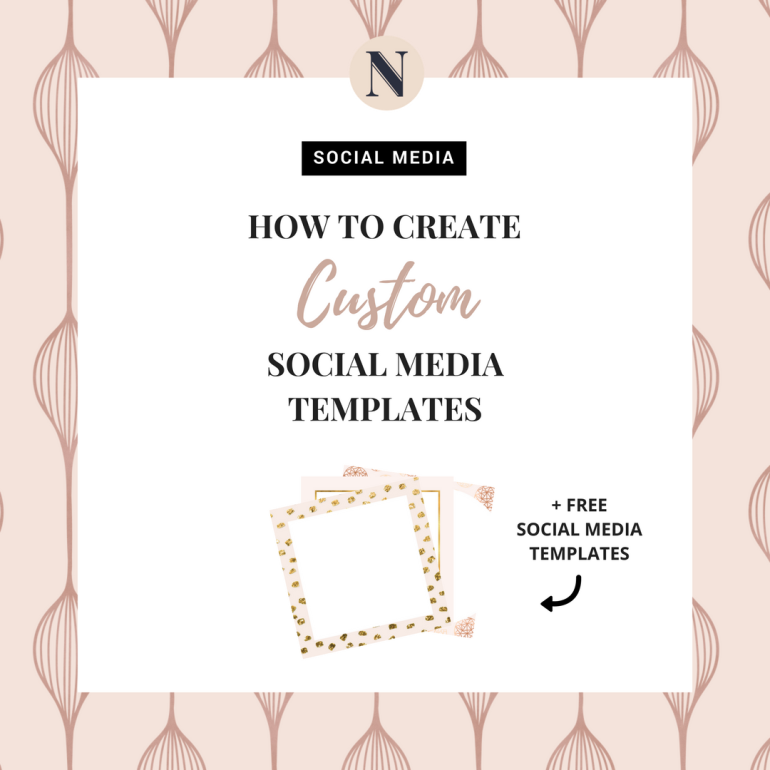 how to create custom social media templates - new lune - free social media templates-instagram template