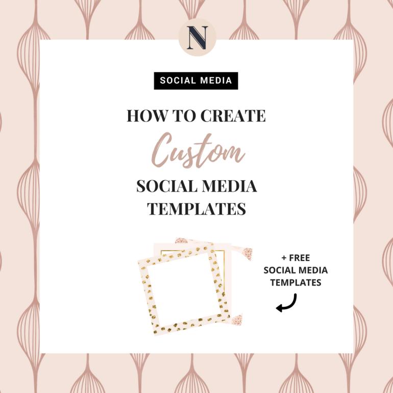 how to create custom social media templates - new lune - free social media templates-instagram template