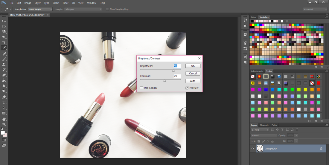 how to edit your blog pictures - a step by step tutorial - new lune-photoshop-brightness and contrast