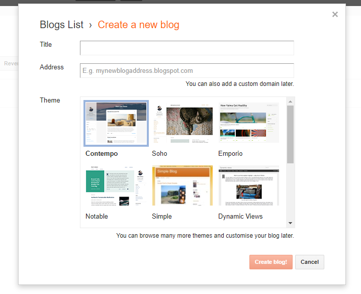 how to create a blog - 101 guide - blogger - new lune