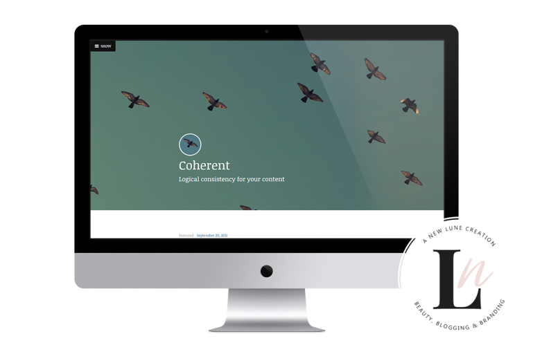 best personal wordpress themes - coherent - new lune