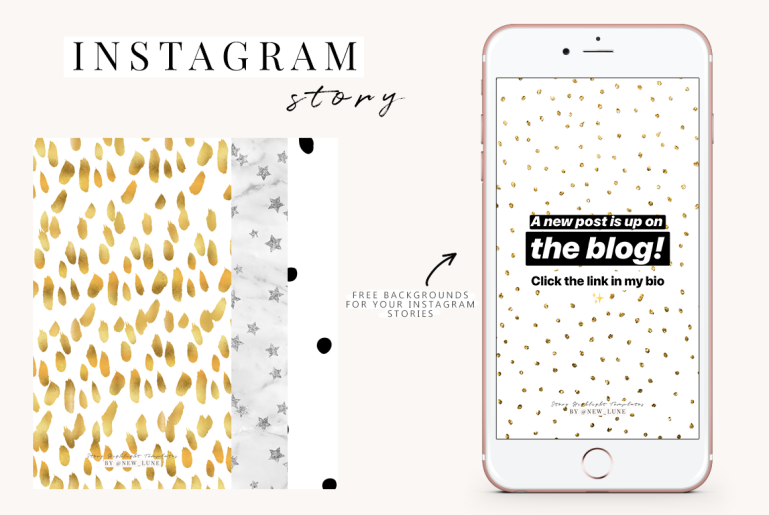 free instagram story templates - covers - backgrounds - new lune 3