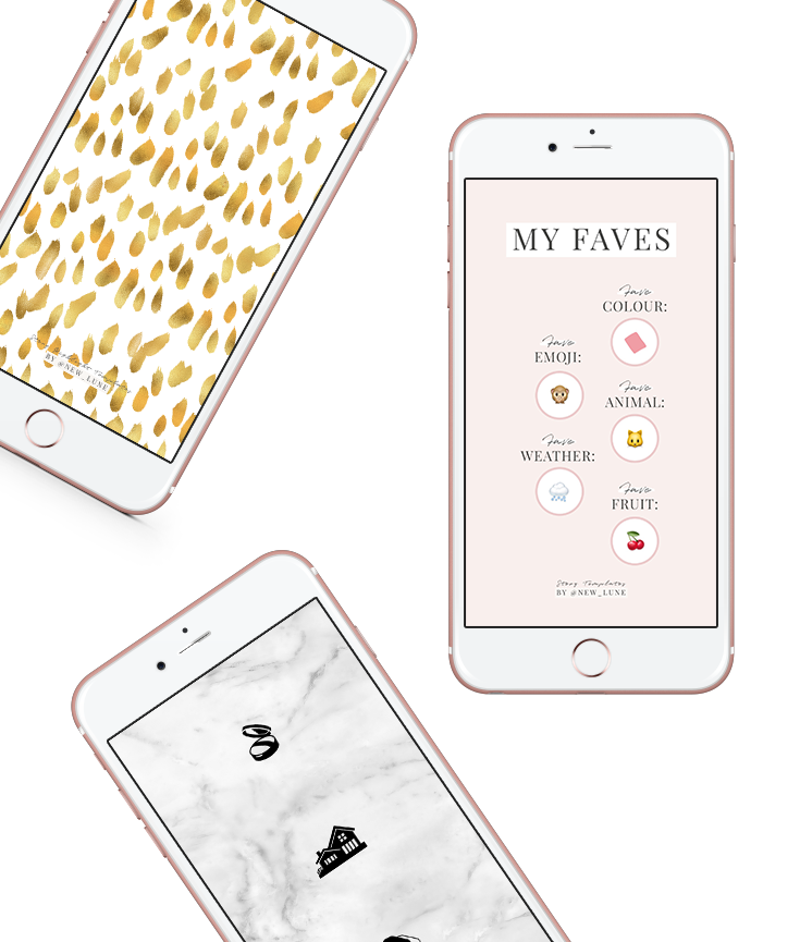 free instagram story templates - covers - backgrounds - new lune