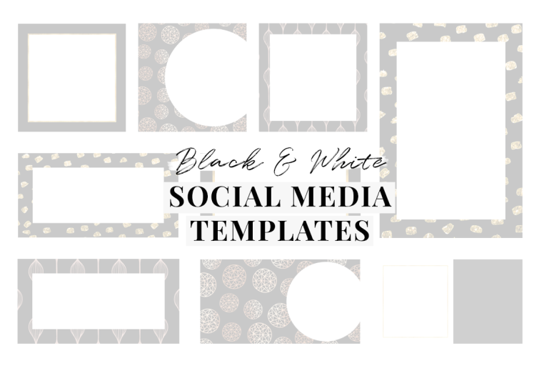 the ultimate guide black and white branding -social media templates - new lune