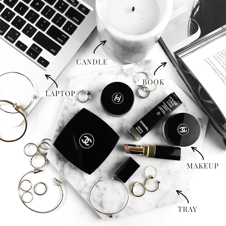 the ultimate guide white and black branding - flatlay props - new lune