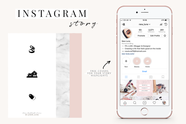 free instagram story templates - covers - backgrounds - new lune 4