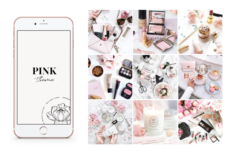 the ultimate guide pink branding -instagram pink theme - new lune