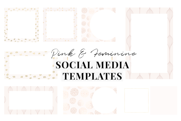 the ultimate guide pink branding -social media templates - new lune