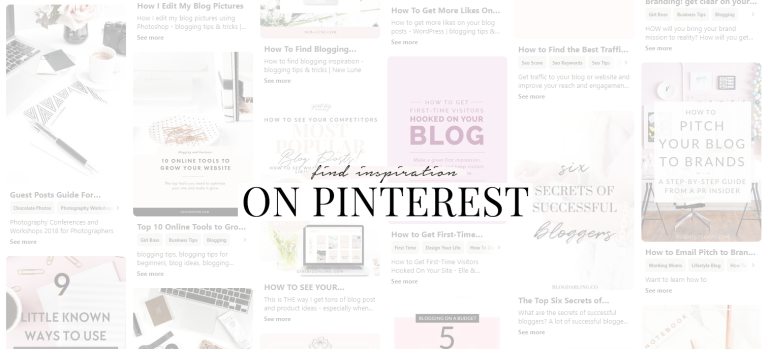 find inspiration pinterest - anatomy of a successful blog post template - new lune