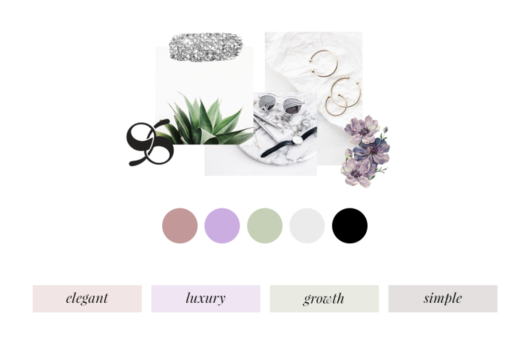 creating a colour palette for your branding - new lune - colour meaning - moodboard