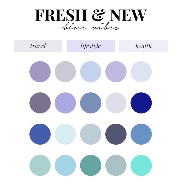 creating a colour palette for your branding - new lune - free colour palettes - blue